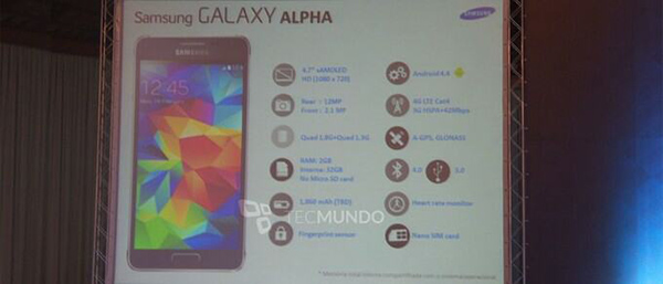 Samsung Galaxy Alpha Specificaties