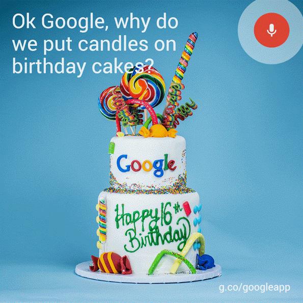 google taart Google Bestaat 16 Jaar En Viert Dat Met Een