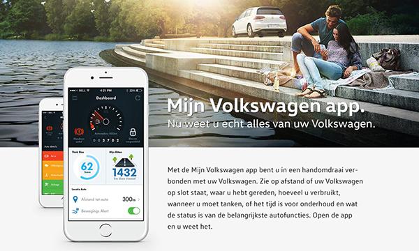 connected-car Mijn Volkswagen app