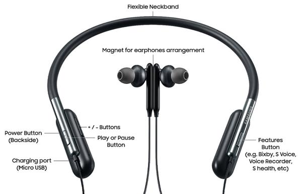Samsung U Flex Headphones bediening