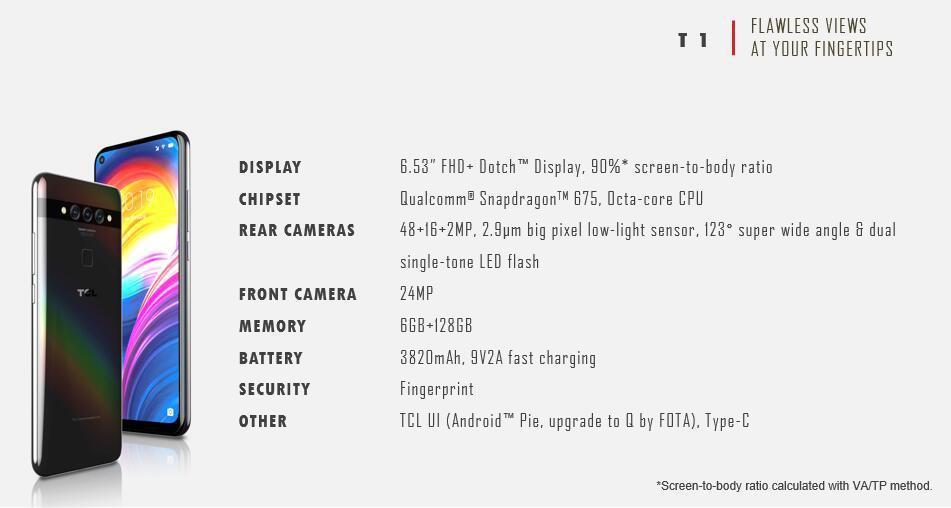 TCL_T1_specificaties